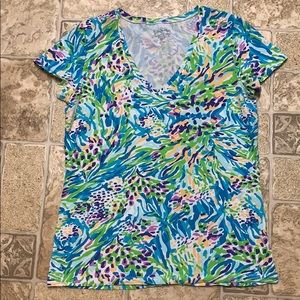 Lilly Pulitzer Michelle v neck tee